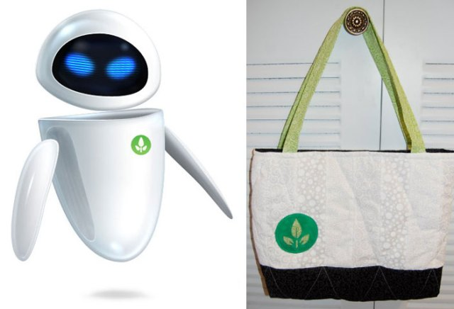 Wall-E Eve inspired tote bag