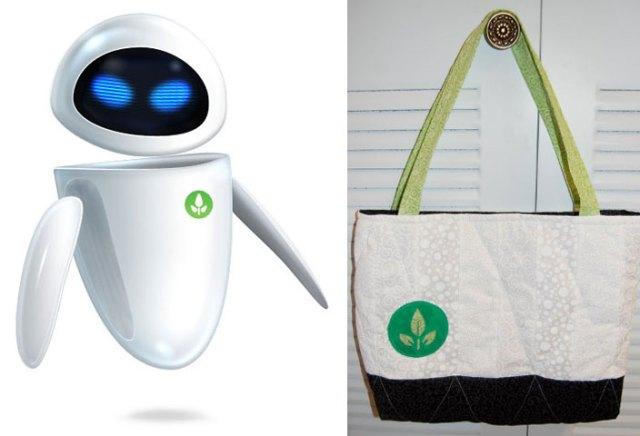 Wall-E Eve inspired tote bag