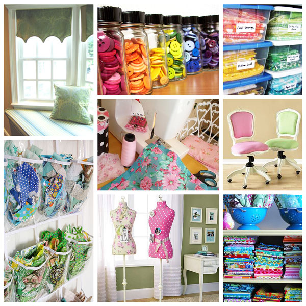 Craft Sewing Space Inspiration Board