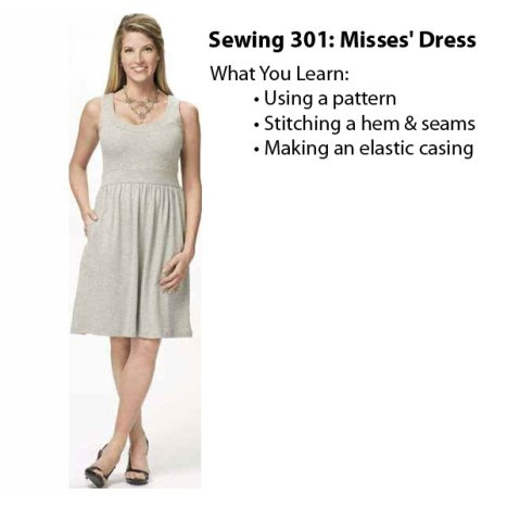 Joann Fabric Sewing 301 Misses Dress Classs