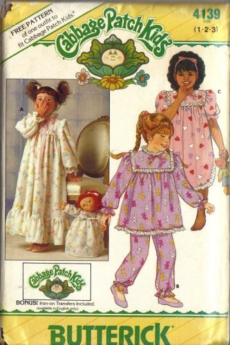Vintage Cabbage Patch Nightgown Pattern