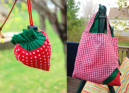 Strawberry Bag Sewing Project