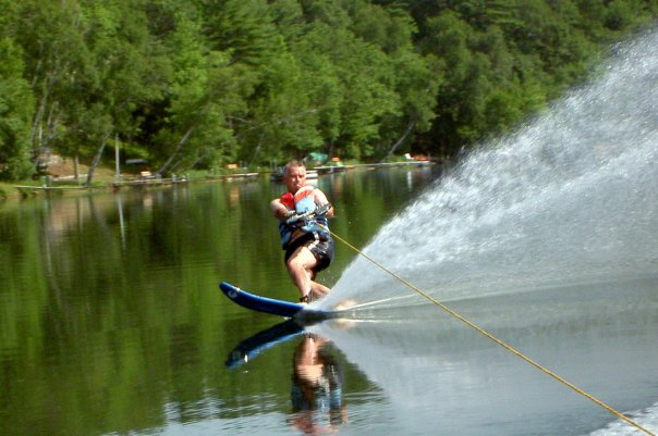 Dad water skiing