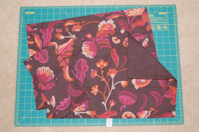 Placemat purse - the before picture