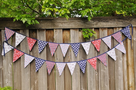 Fabric pennant sewing tutorial
