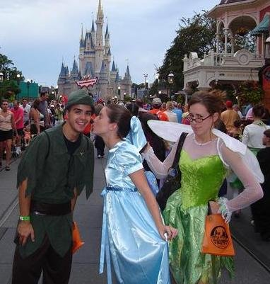 Peter Pan, Wendy and Tinker Bell costumes