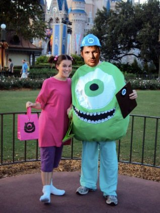 Mike Wazowski and Boo costumes