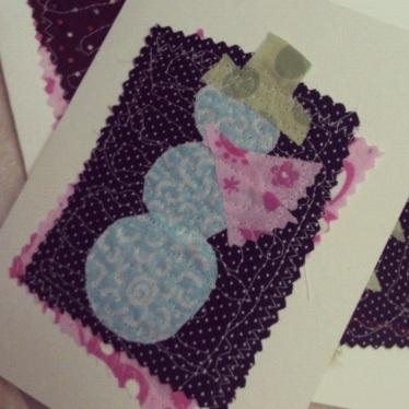 Sewn Christmas Cards