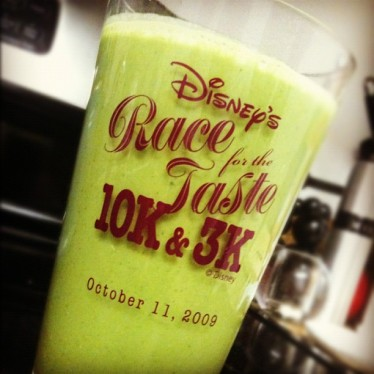 My first green monster smoothie