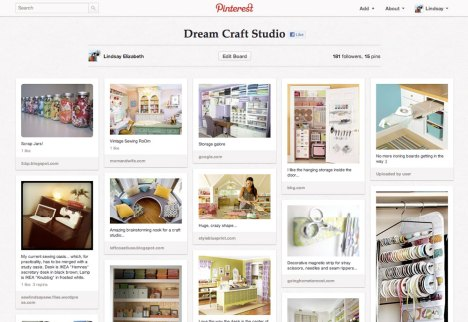 Dream craft studio Pinterest board