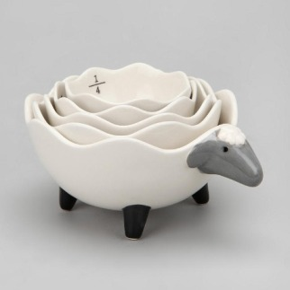 Sheep measuring cups