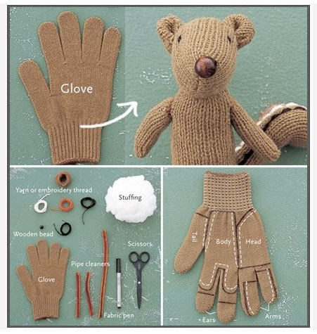 Stuffed animal from glove