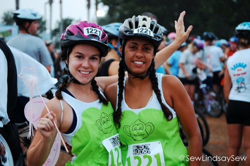 Throwback photo! Back in 2008, getting ready to run (and bike) in the Muddy Buddy race with my roommate Tracy - the roommate who inspired me to run in the first place!