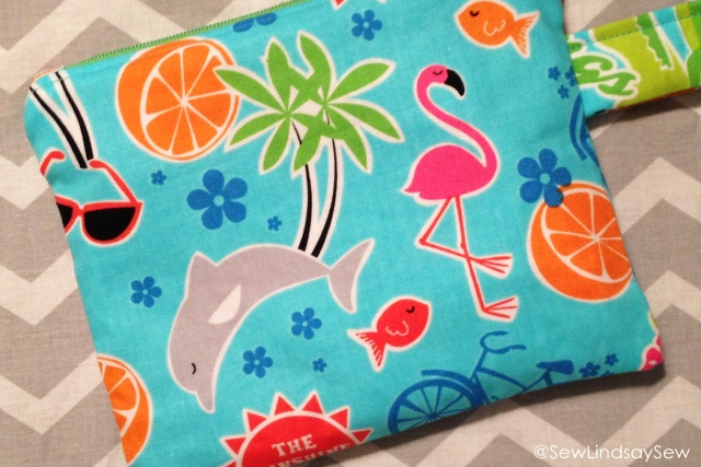 Florida zipper pouch