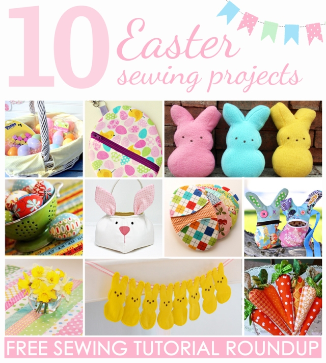 10 Easter Sewing Projects: Free Tutorial Roundup on the SewLindsaySew blog.