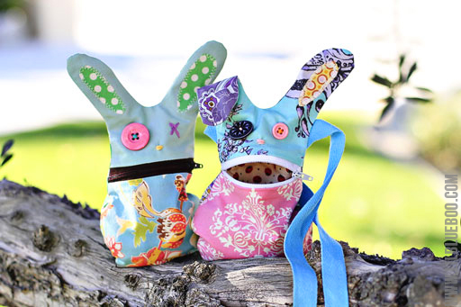 Free hungry bunny zipper pouch tutorial