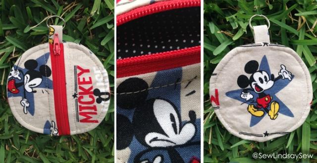 Earbud zipper pouch