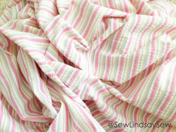 Pastel Striped Fabric