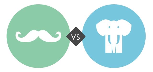 Mustaches vs elephants