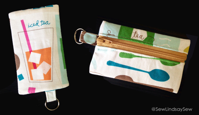 Iced tea sugar packet zipper pouch