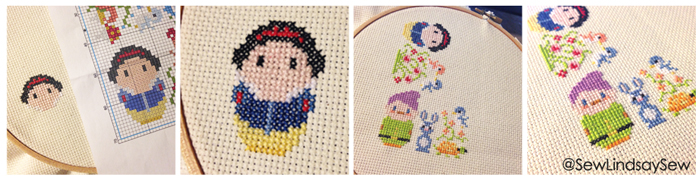 Snow White Biscornu Instagram Progress