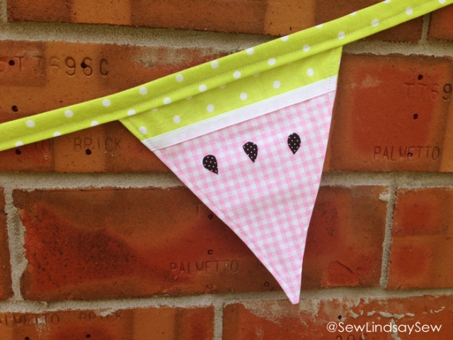 Sweet Summertime Watermelon Bunting