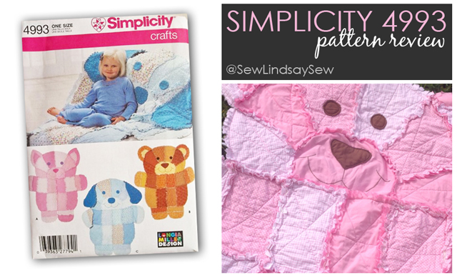 On the Sew Lindsay Sew blog: Simplicity 4993 Teddy Bear Quilt
