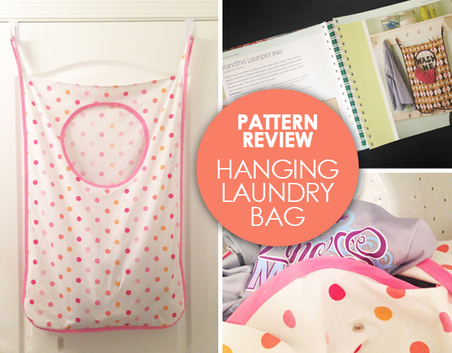 Sew Lindsay Sew pattern review: Hanging Laundry Bag from One Yard Wonders