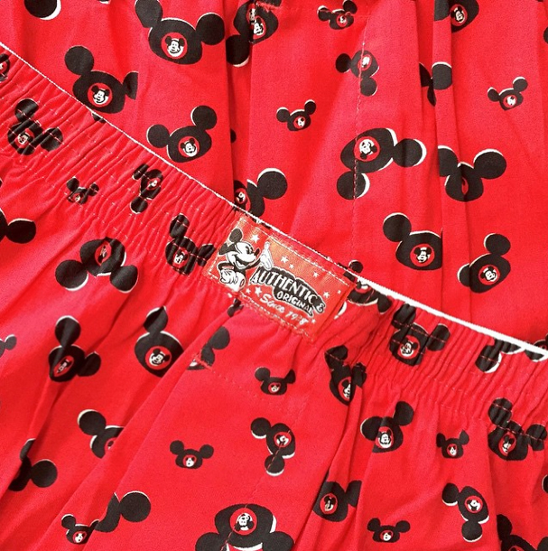 This Mickey ear fabric - which happens to be two pairs of XL boxer shorts I got on sale - has been in my stash for a few years now...