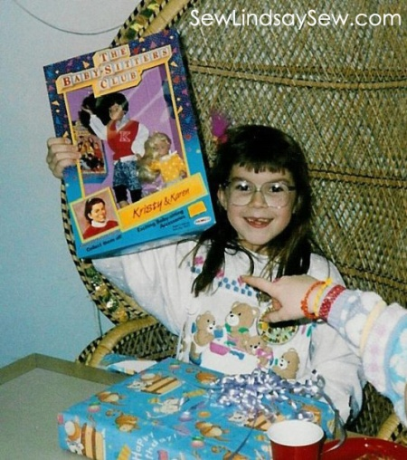My 9th birthday - the hot gift that year... Baby-Sitters Club dolls.
