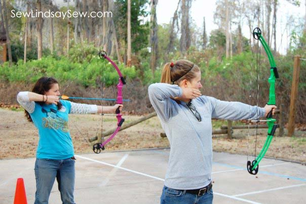Archery lessons for my 25th birthday with my previous roomie, Elizabeth.